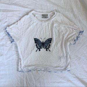 Urban Outfitters Butterfly Cropped Tee